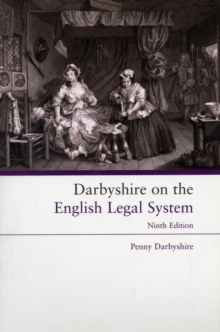 Darbyshire on the English Legal System, Paperback Book