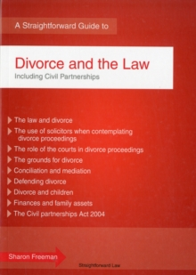 Divorce And The Law : 2012 Revised Edition, Paperback Book