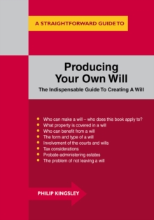 Producing Your Own Will, Paperback Book