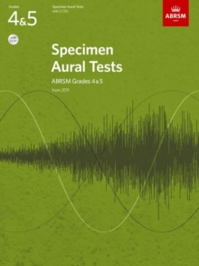 Specimen Aural Tests, Grades 4 & 5 with 2 CDs : new edition from 2011, Sheet music Book