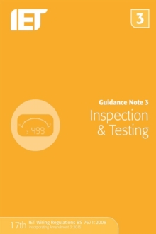 Guidance Note 3: Inspection & Testing, Paperback Book