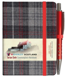 Waverley S.T. (S): Castle Grey Mini with Pen Pocket Genuine Tartan Cloth Commonplace Notebook, Hardback Book