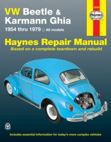 VW Beetle and Karmann Ghia (1954-79) Automotive Repair Manual, Paperback Book