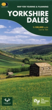 Yorkshire Dales : Map for Touring and Planning, Sheet map, folded Book