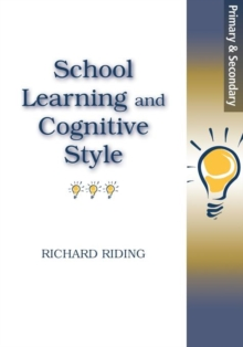 School Learning and Cognitive Styles, Paperback Book
