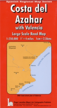 Costa Del Azahar and Valencia, Sheet map, folded Book