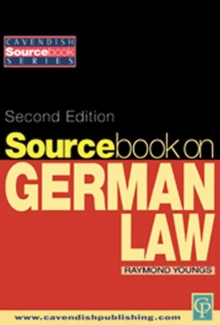 Sourcebook on German Law, Paperback / softback Book
