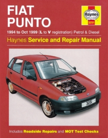 Fiat Punto (1994-1999) Service and Repair Manual, Paperback Book