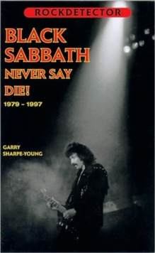 "Rockdetector: ""Black Sabbath"" : Never Say Die, Paperback Book"