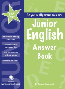 Junior English Book 1 Answer Book, Paperback Book