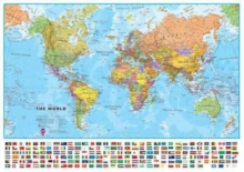 World Political Map, Sheet map, rolled Book