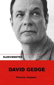Sleevenotes: David Gedge, Paperback / softback Book