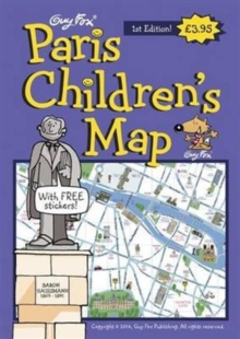 Guy Fox Paris Children's Map, Sheet map, folded Book