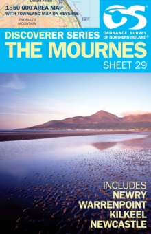 Mournes, Sheet map, folded Book