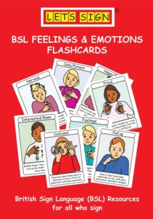 Let's Sign BSL Feelings & Emotions Flashcards, Cards Book