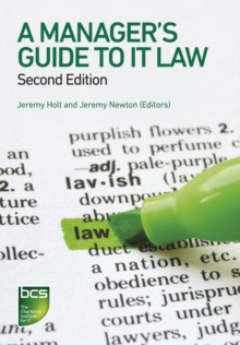 A Manager's Guide to IT Law, Paperback / softback Book