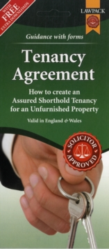 Unfurnished Tenancy Agreement Form Pack, Mixed media product Book