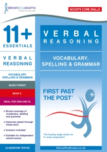 11+ Essentials Verbal Reasoning: Vocabulary, Spelling & Grammar Book 2
