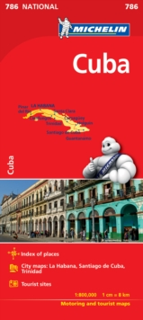 Cuba  - Michelin National Map 786, Sheet map, folded Book