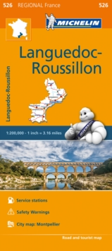 Languedoc Roussillon Map 526 : Michelin Regional Maps: France, Sheet map, folded Book