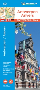 Antwerp - Michelin City Plan 40 : City Plans, Sheet map Book