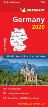 Germany 2020 - Michelin National Map 718 : Map, Sheet map Book