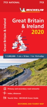 Great Britain & Ireland 2020 - Michelin National Map 713 : Map, Sheet map Book