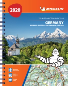 Germany, Benelux, Austria, Switzerland, Czech Republic 2020 - Tourist and Motoring Atlas (A4-Spiral) : Tourist & Motoring Atlas A4 spiral, Spiral bound Book