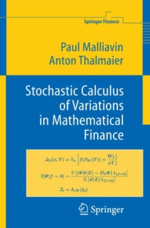 Stochastic Calculus of Variations in Mathematical Finance, Hardback Book
