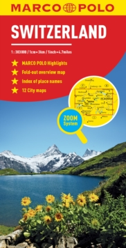 Switzerland Marco Polo Map, Sheet map, folded Book