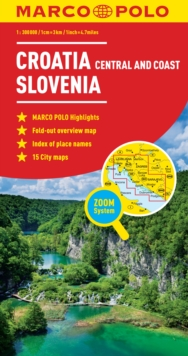 Croatia / Slovenia Marco Polo Map, Sheet map, folded Book