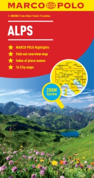 Alps Marco Polo Map, Sheet map, folded Book