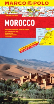 Morocco Marco Polo Map, Sheet map, folded Book