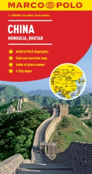 China Marco Polo Map, Sheet map, folded Book