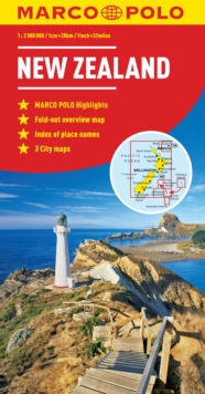New Zealand Marco Polo Map, Sheet map, folded Book