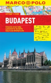 Budapest City Map, Sheet map, folded Book