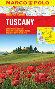 Tuscany Marco Polo Holiday Map, Sheet map, folded Book