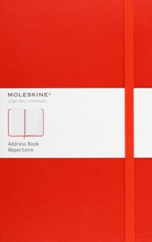 Moleskine Large Address Book Red, Notebook / blank book Book