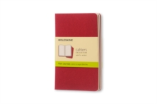 Moleskine Plain Cahier - Red Cover (3 Set), Multiple copy pack Book
