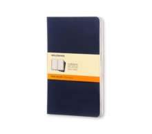Moleskine Ruled Cahier L - Navy Cover (3 Set), Multiple copy pack Book